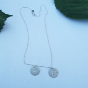 Nashelle Sterling  Silver Initial Discs Necklace